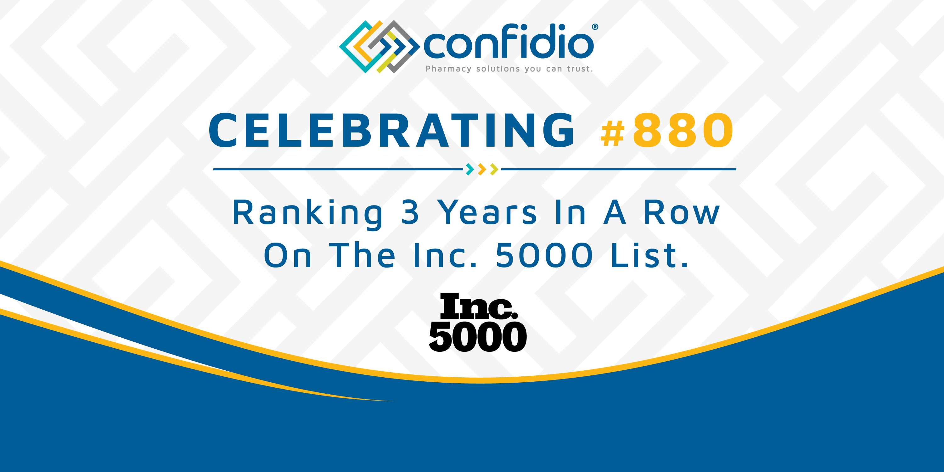 CONFIDIO Ranks No. 880 on the 2021 Inc. 5000 -With a Three-Year Revenue Growth of553%